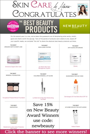 New Beauty Awards at Skin Care by Alana