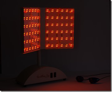 Caribbean Sun Light with both red and yellow LEDs on