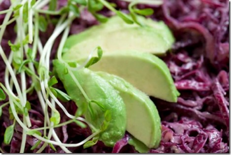 Raw Purple Cabbage Salad